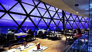 267米空中旋转餐厅